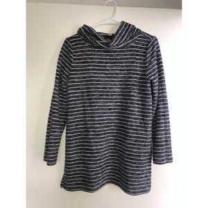 Size M cowl neck nautical sweater | Loft